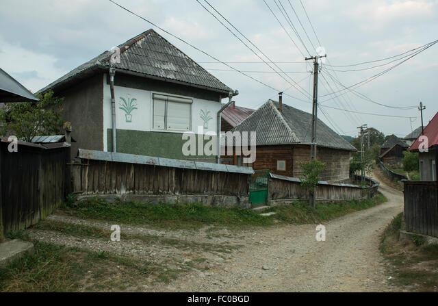 Romania houses stock photos romania houses stock images alamy - Houses maramures wood ...