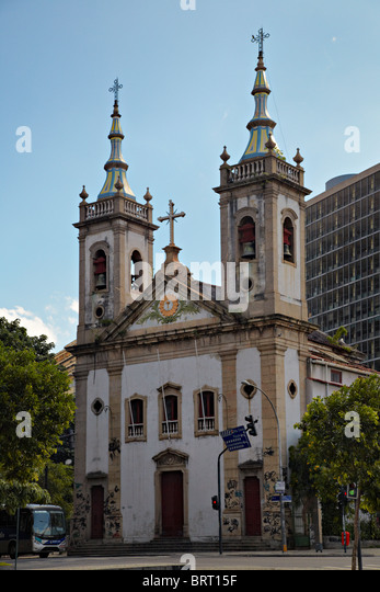 Igreja Santa Luzia, Rio de Janeiro, Brazil - Stock Image