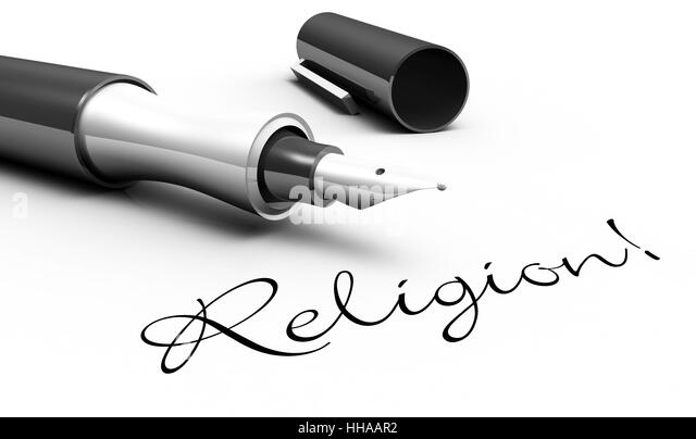 Religion! - Stift Konzept - Stock-Bilder