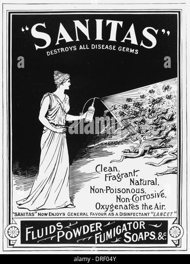 Sanitas - destroys all disease germs - Stock Image