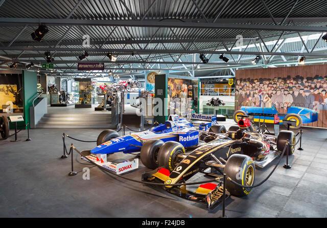 Formula 1 racing cars on display at the National Motor Museum, Beaulieu, Hampshire, England UK - Stock Image