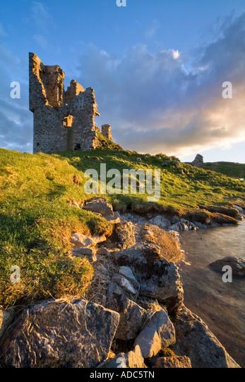 Ardvreck Castle Loch Assynt Scotland - Stock Image