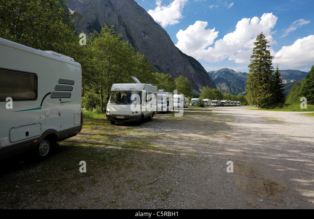 parked mobile homes stock photos parked mobile homes. Black Bedroom Furniture Sets. Home Design Ideas