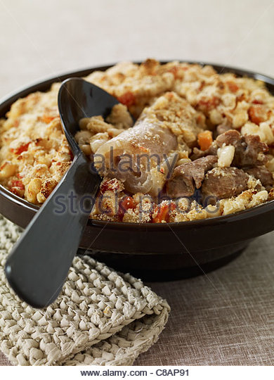 Mutton Pistache with garlic - Stock Image