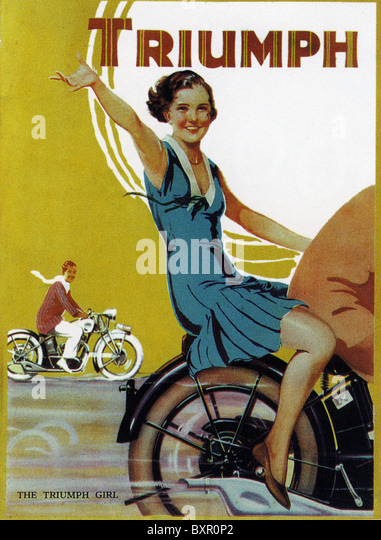 TRIUMPH MOTORCYCLE ADVERT 1931 - Stock Image