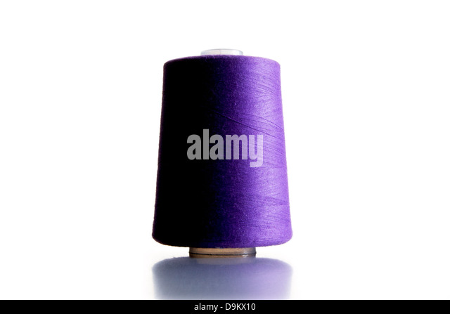 Purple Spool of Thread - Stock Image