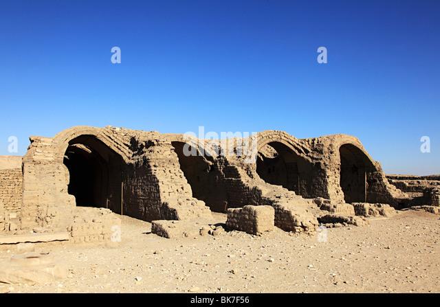 Ramesseum temple egypt - Stock Image
