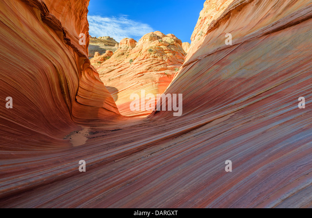 Rock formations in the North Coyote Buttes, part of the Vermilion Cliffs National Monument. This area is also known - Stock Image