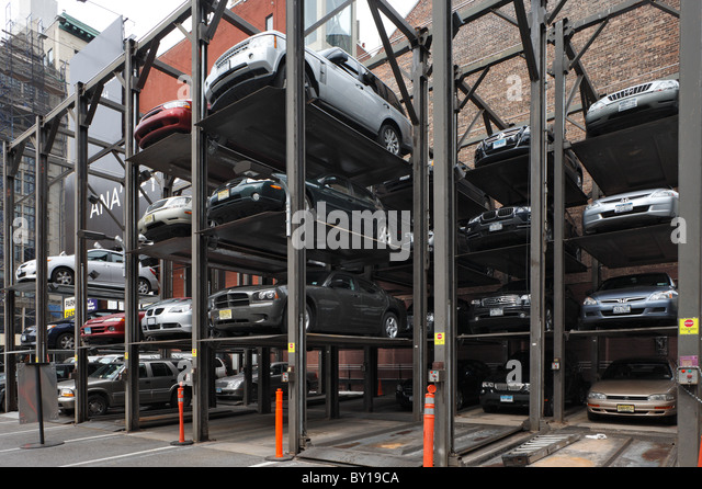 Parking system stock photos parking system stock images for Parking garages new york city