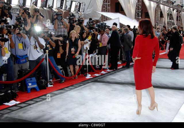 Priscilla Presley at arrivals for World Premiere of Cirque du Soleil's IRIS, Kodak Theatre, Los Angeles, CA - Stock Image