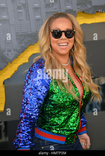 Los Angeles, USA. 4th Feb, 2017. Actress/singer Mariah Carey at the world premiere of 'The Lego Batman Movie' - Stock Image