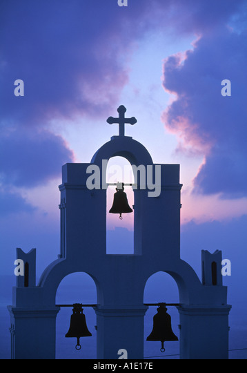 Kimis Theotokov Church, Santorini (Thira), Cyclades Islands, Greece - Stock Image