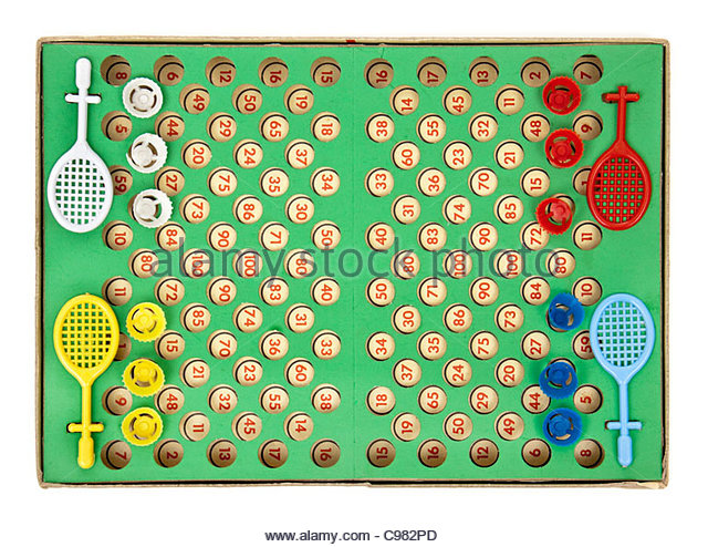 Vintage badminton table-top game for 4 players - Stock Image