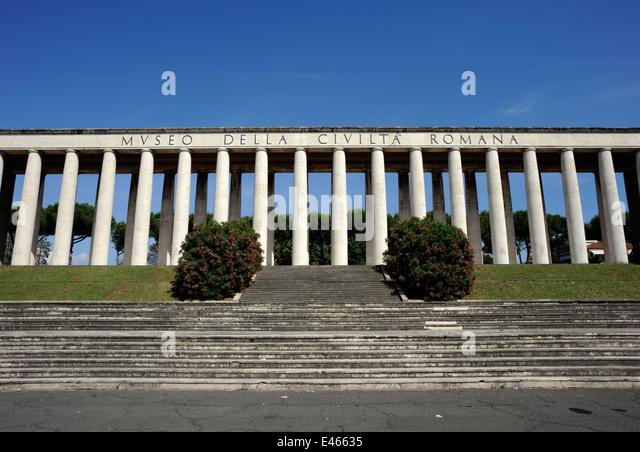 italy, rome, eur, museo della civiltà romana, museum of roman civilization - Stock Image
