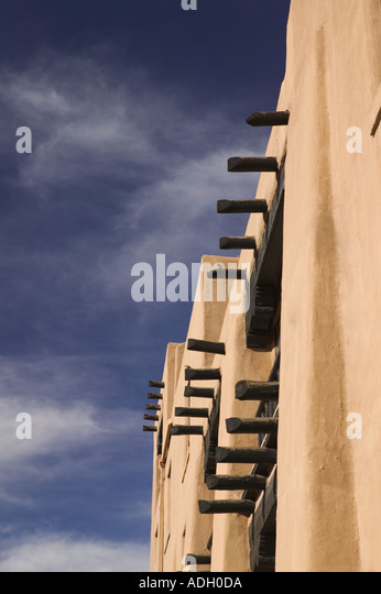 Adobe wall Santa Fe New Mexico - Stock Image