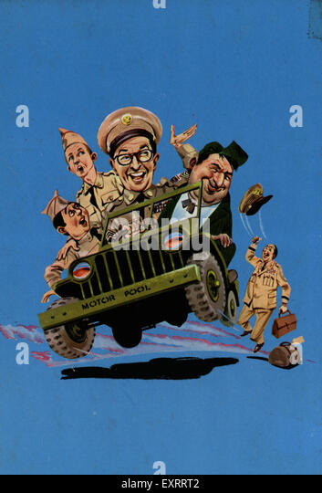 1960s UK Sergeant Ernie Bilko Comic/ Annual Cover - Stock Image