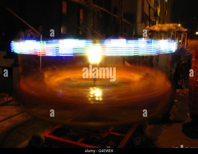 Spinning MErry-Go-Round - Stock Image