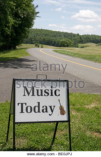 Virginia Appalachian Mountains Blue Ridge Parkway All-American Road National Scenic Byway Blue Ridge Music Center - Stock Image