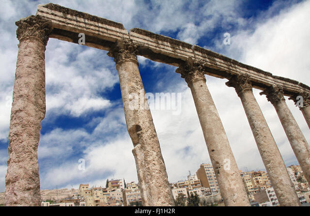 Amphitheater  - Roman theater , Amman, Jordan - Stock Image
