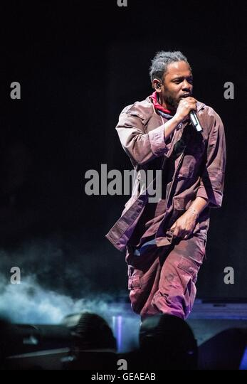 New York, NY, USA. 23rd July, 2016. Kendrick Lamar on stage for Panorama Festival Presented by Goldenvoice - SAT, - Stock-Bilder