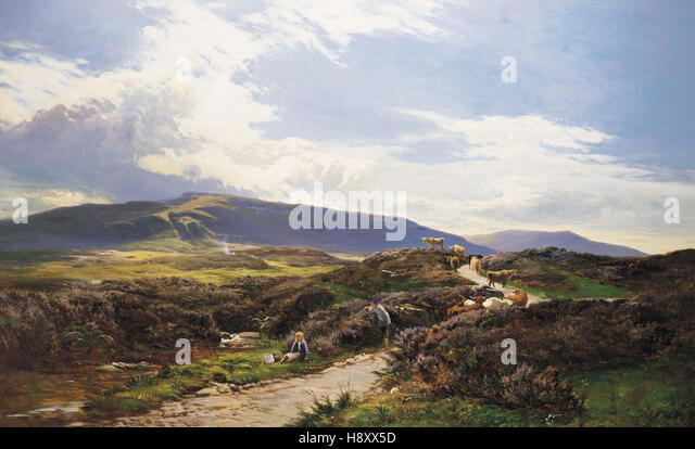 Sidney Richard Percy  A Perthshire Moor Scotland - Stock Image
