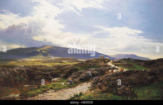 Sidney Richard PercyA Perthshire MoorScotland - Stock Image