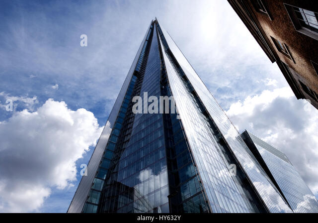 Detail of the shard London - Stock Image