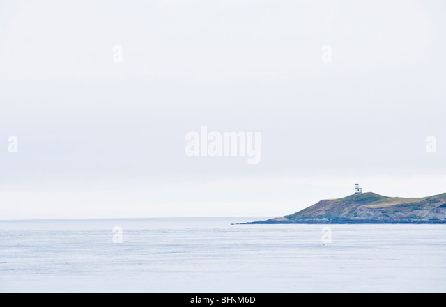 The Lighthouse Reservation on San Juan Island in the San Juan Island National Historical Park - Stock Image