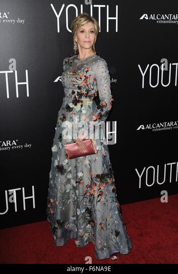 Los Angeles, CA, USA. 17th Nov, 2015. Jane Fonda at arrivals for YOUTH Premiere, Directors Guild of America (DGA) - Stock Image