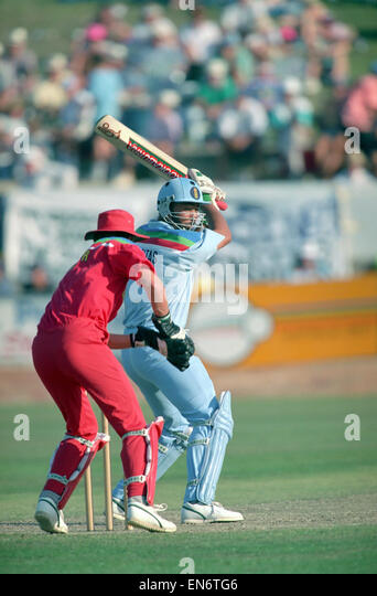 Cricket World Cup 1992 - Australia: England v. Zimbabwe at Albury. Zimbabwe won by 9 runs. Zimbabwe 134 (46.1 over); - Stock Image
