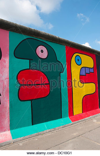 Germany, Berlin. Friedrichshain-Kreuzberg. East Side Gallery mural. (Editorial Usage Only) - Stock Image