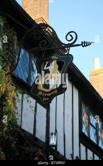 The Mermaid Inn Hotel Rye East Sussex England - Stock Image