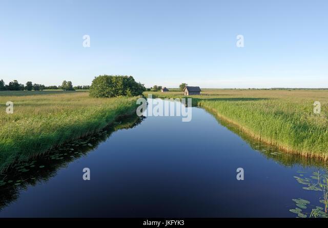 Tuudi river in Matsalu National Park. Estonia 14th July 2017 - Stock Image