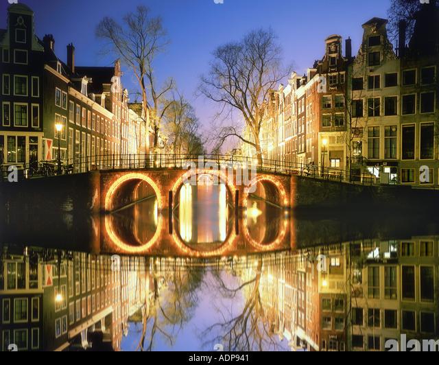 NL - AMSTERDAM: Herrengracht by night - Stock Image
