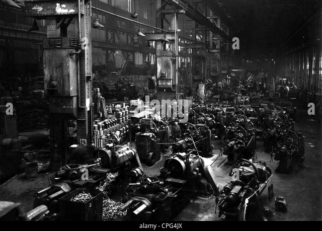 industry, locomotive, factory, 1949, 1940s, 40s, 20th century, historic, historical, railway, railroad, railways, - Stock Image