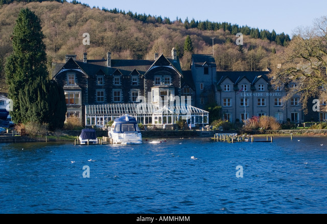 Lakeside Hotel Cumbria Stock Photos Lakeside Hotel