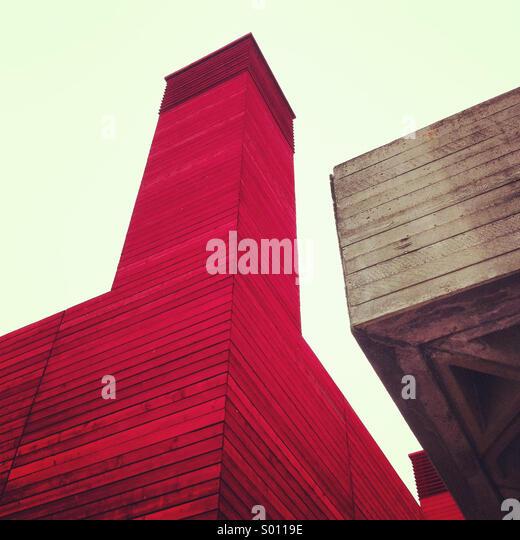 Brutalist urban architecture - Stock Image
