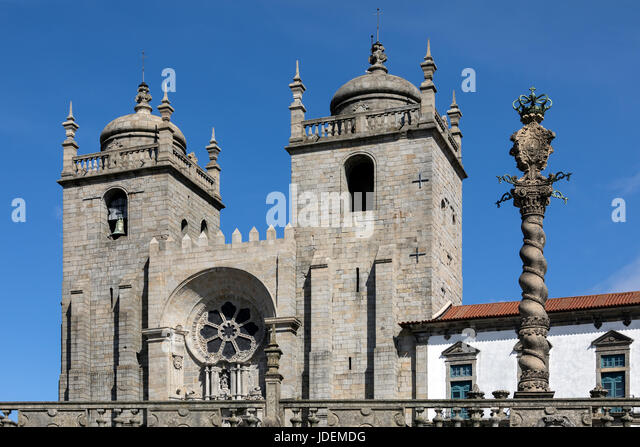 Porto Cathedral - Porto (Oporto) - Portugal.  A Roman Catholic church located in the historical centre of the city, - Stock Image