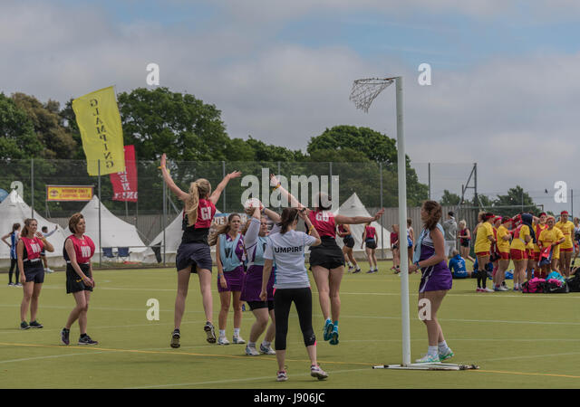 Bournemouth, UK. 28th May 2017. Annual sports and music festival attracting rugby, netball, hockey and dodgeball - Stock Image