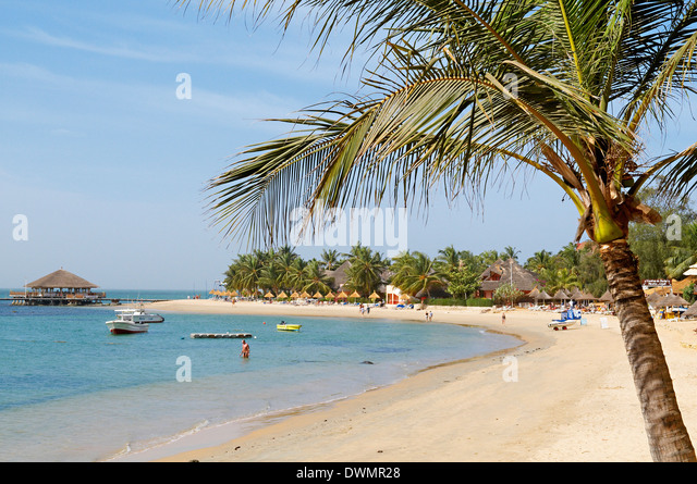 Saly beach on the Petite Cote (Small Coast), Senegal, West Africa, Africa - Stock Image