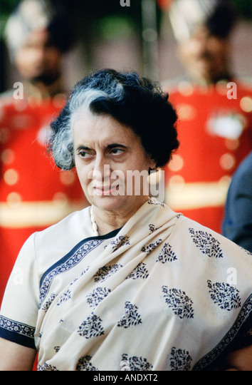 Indian Prime Minister Indira Ghandi India - Stock-Bilder