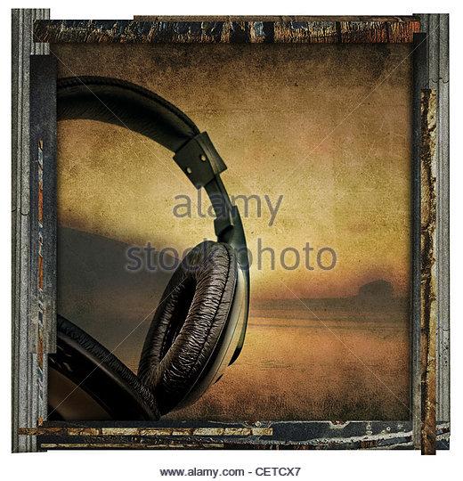 fine art beach music photograph - Stock Image