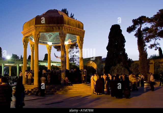 Iranians visiting Poet Hafez Tomb, Shiraz, Iran - Stock Image