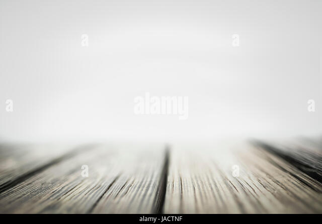 Foggy natural background with old brown wood panel color, background texture tabletop. Advertise, show products - Stock Image