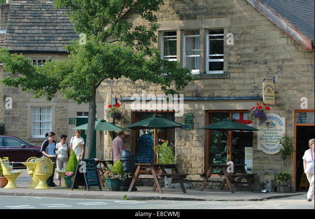 Cafe at Eyam Derbyshire - Stock Image
