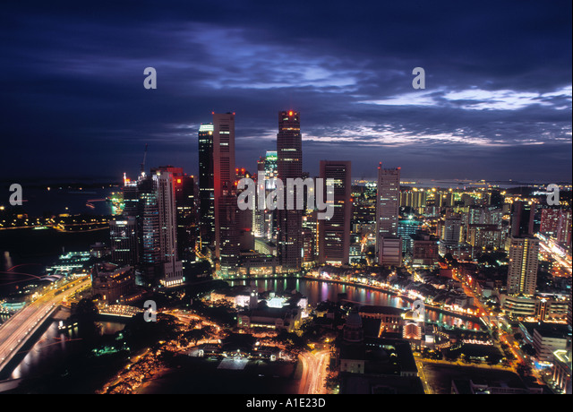 Financial District, Singapore - Stock Image