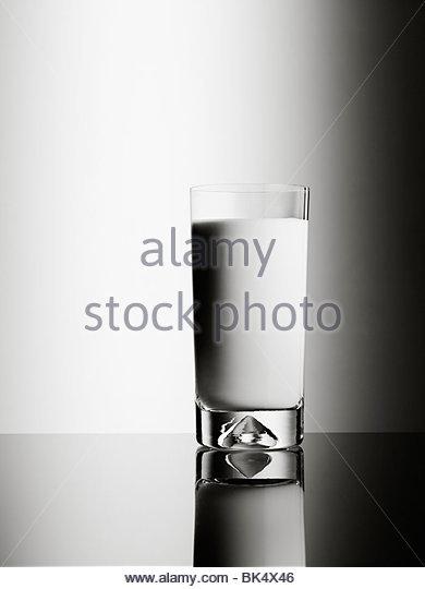 Glass of milk - Stock Image