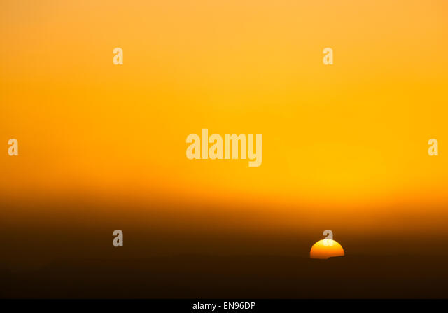 Sunrise. Lihoudi dunes. Sahara desert. Morocco. Africa. - Stock-Bilder