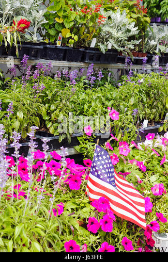 Indiana Chesterton Chesterton Feed and Garden Center plant nursery flowers plants horticulture business pots landscaping - Stock Image