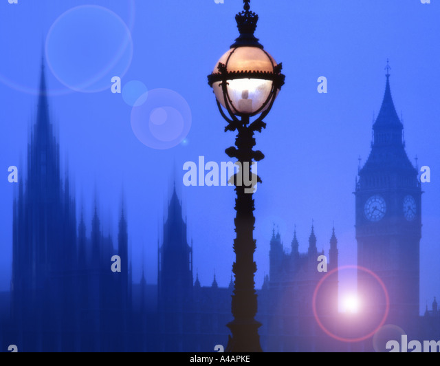 GB - LONDON:  Houses of Parliament and Big Ben - Stock Image